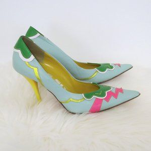 Miss Sixty Colorful Quirky Mint Green Stiletto Heels 38